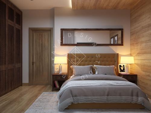 Дизайн проект интерьера загородного дома в стиле Шале - 20