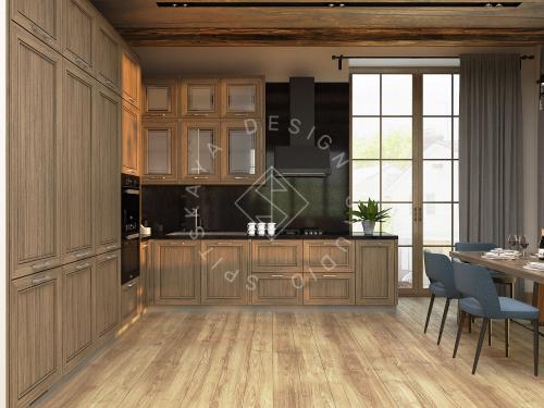 Дизайн проект интерьера загородного дома в стиле Шале - 3