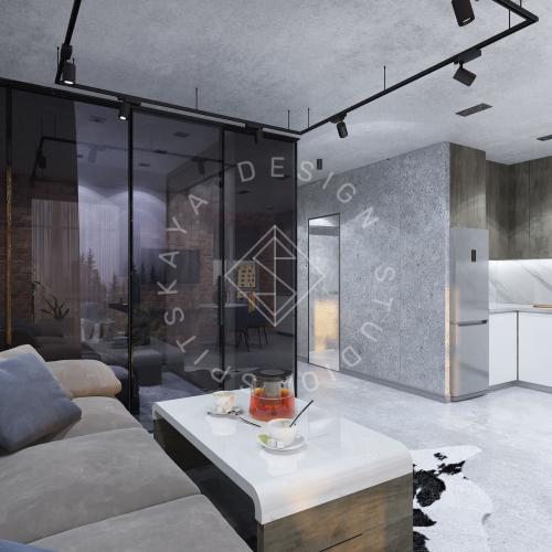 """Дизайн интерьера квартиры в стиле """"LOFT"""" ЖК """"RIVER PARK"""" - 9"""