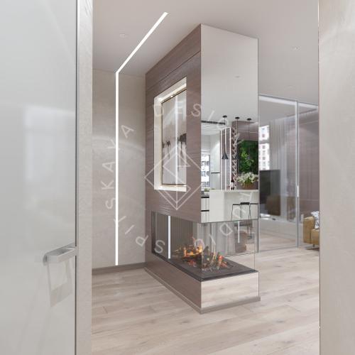 Дизайн трехкомнатной квартиры новом доме - 13