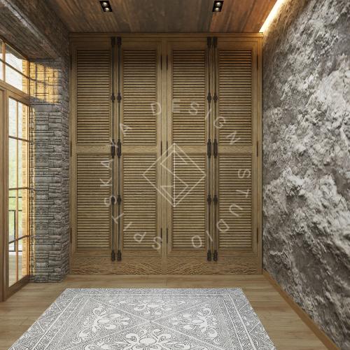 Дизайн проект интерьера загородного дома в стиле Шале - 11