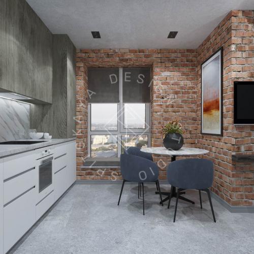 """Дизайн интерьера квартиры в стиле """"LOFT"""" ЖК """"RIVER PARK"""" - 3"""