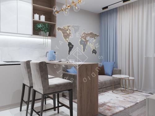 Дизайн проект квартиры в ЖК Республика - 6