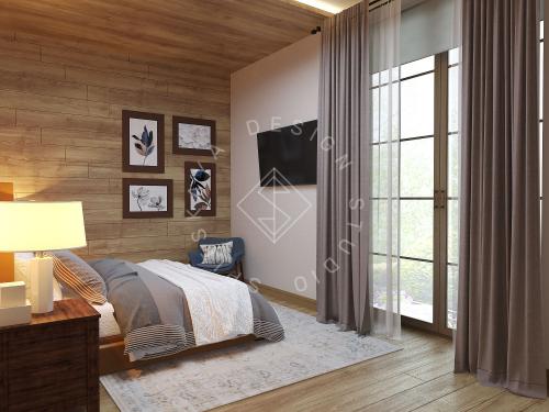 Дизайн проект интерьера загородного дома в стиле Шале - 18