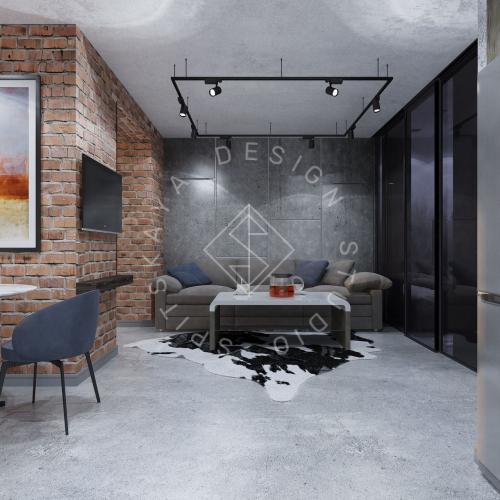 """Дизайн интерьера квартиры в стиле """"LOFT"""" ЖК """"RIVER PARK"""" - 7"""