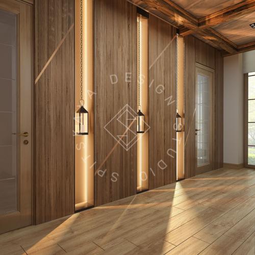 Дизайн проект интерьера загородного дома в стиле Шале - 24