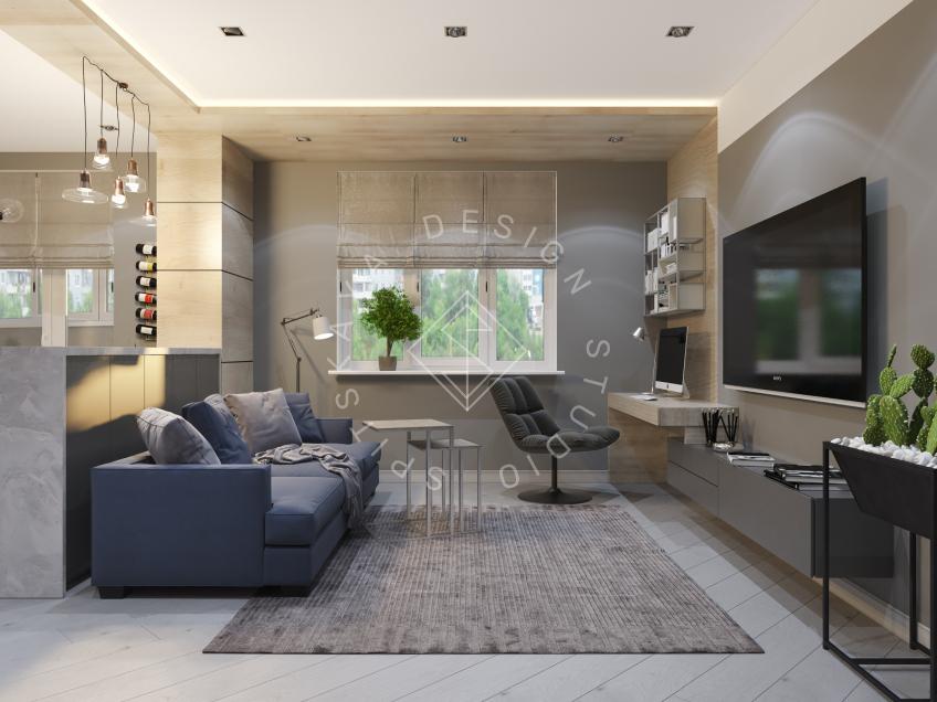 Дизайн интерьера квартиры в ЖК Чкаловский