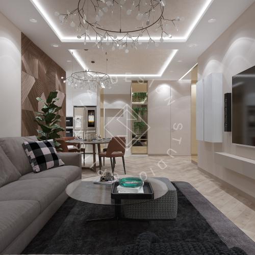 Дизайн квартиры 120 м2 - 2