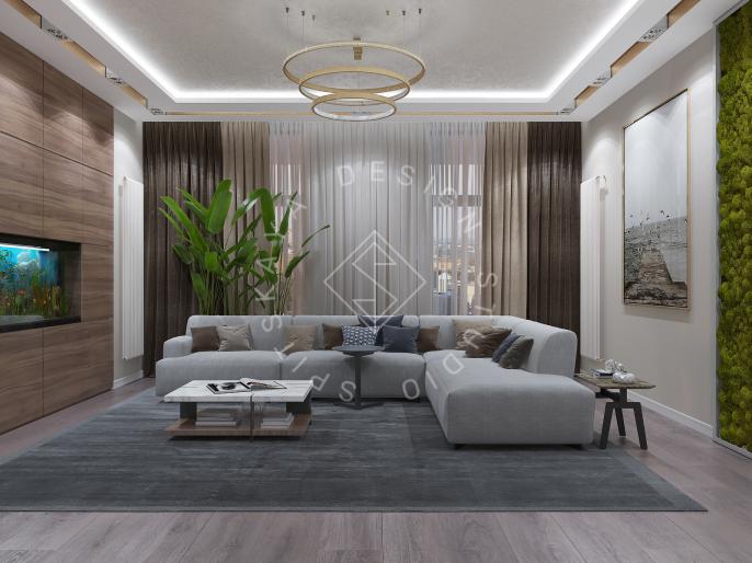Дизайн интерьера квартиры в ЖК Comfort City Lux