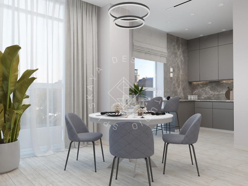 Дизайн интерьера квартиры в ЖК Грани