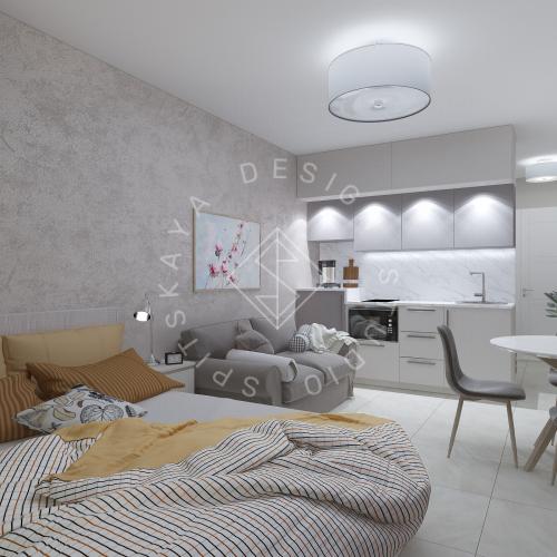 Дизайн однокомнатной квартиры в г. Грузия - 4