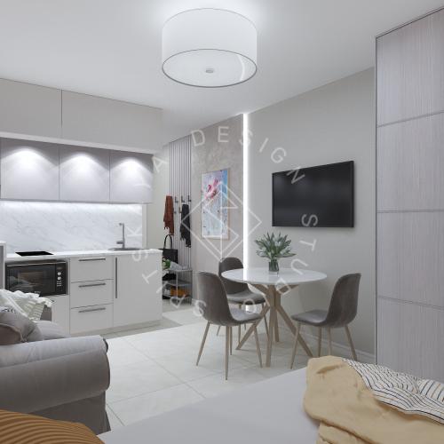 Дизайн однокомнатной квартиры в г. Грузия - 6