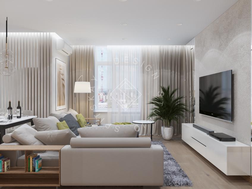 Дизайн квартиры в ЖК Галлактика г. Киев