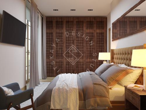 Дизайн проект интерьера загородного дома в стиле Шале - 19