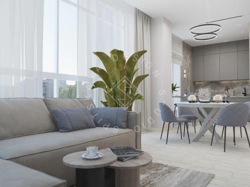 Дизайн интерьера квартиры в ЖК Грани - 9