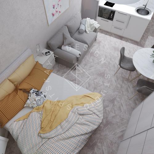 Дизайн однокомнатной квартиры в г. Грузия - 10