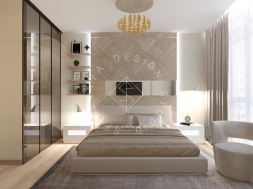 Дизайн трехкомнатной квартиры новом доме - 24