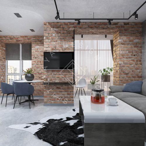 """Дизайн интерьера квартиры в стиле """"LOFT"""" ЖК """"RIVER PARK"""" - 2"""