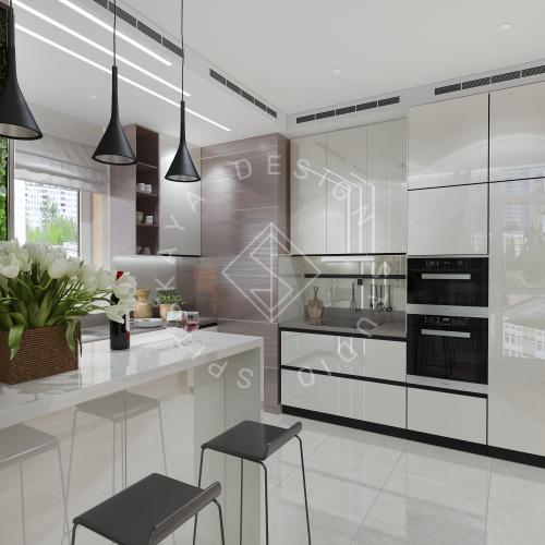 Дизайн трехкомнатной квартиры новом доме - 7