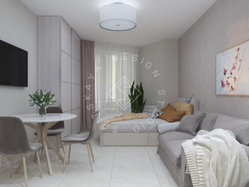 Дизайн однокомнатной квартиры в г. Грузия - 2