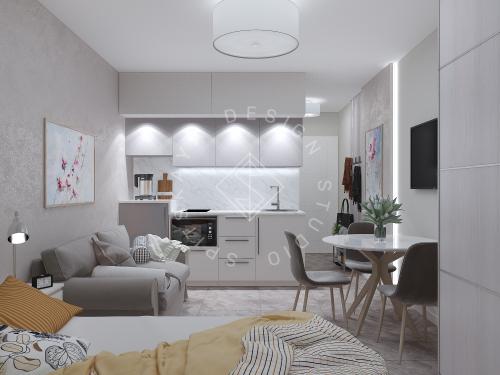 Дизайн однокомнатной квартиры в г. Грузия - 9