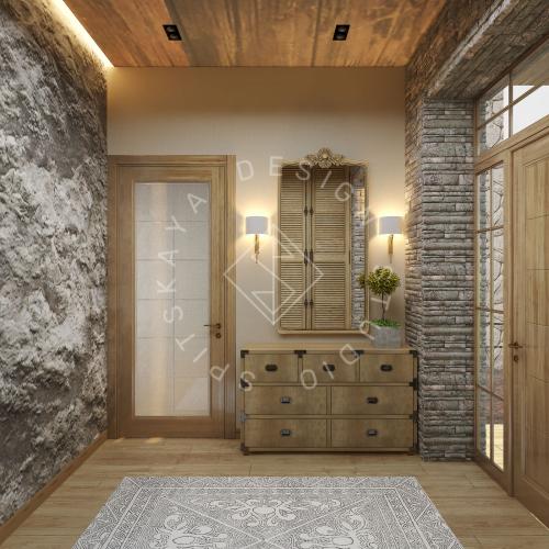Дизайн проект интерьера загородного дома в стиле Шале - 10