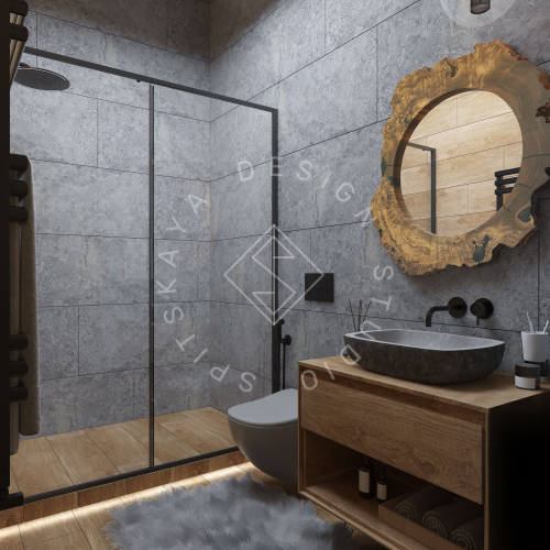 Дизайн проект интерьера загородного дома в стиле Шале - 15