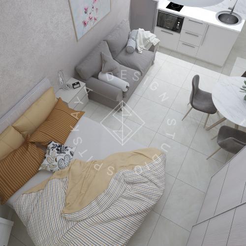 Дизайн однокомнатной квартиры в г. Грузия - 8