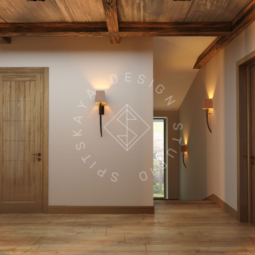 Дизайн проект интерьера загородного дома в стиле Шале - 26