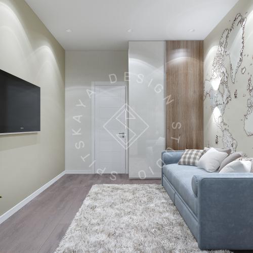 Дизайн интерьера квартиры в ЖК Comfort City Lux - 47