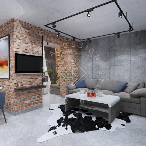"""Дизайн интерьера квартиры в стиле """"LOFT"""" ЖК """"RIVER PARK"""" - 1"""
