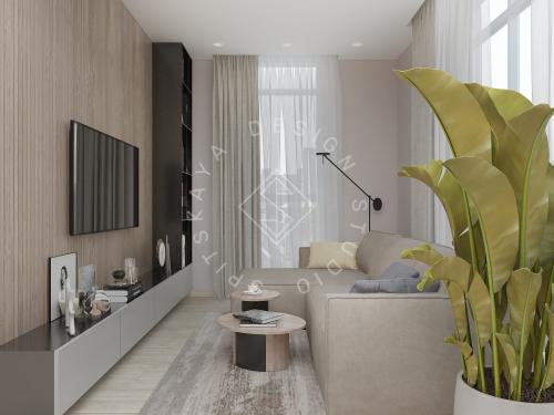 Дизайн интерьера квартиры в ЖК Грани - 10