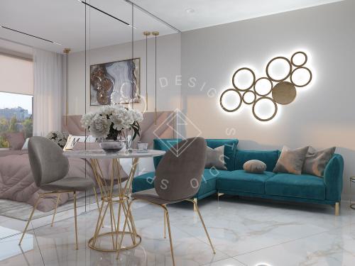 """Дизайн квартиры-студии в ЖК """"Bartolomeo Resort Town"""" г. Днепр - 15"""
