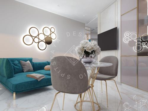 """Дизайн квартиры-студии в ЖК """"Bartolomeo Resort Town"""" г. Днепр - 12"""
