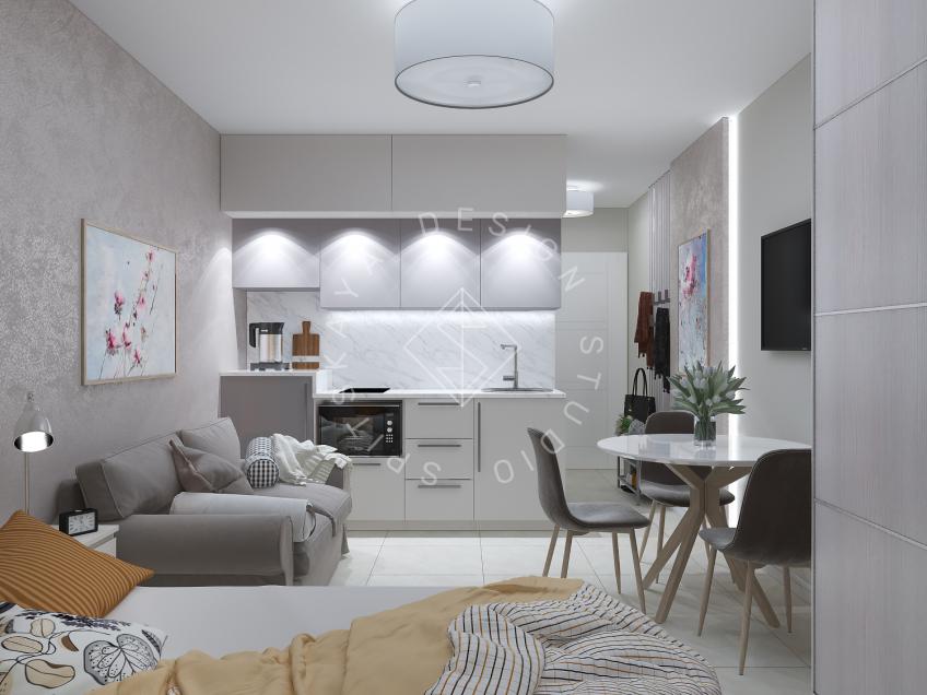 Дизайн однокомнатной квартиры в г. Грузия