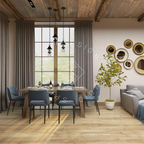 Дизайн проект интерьера загородного дома в стиле Шале - 8
