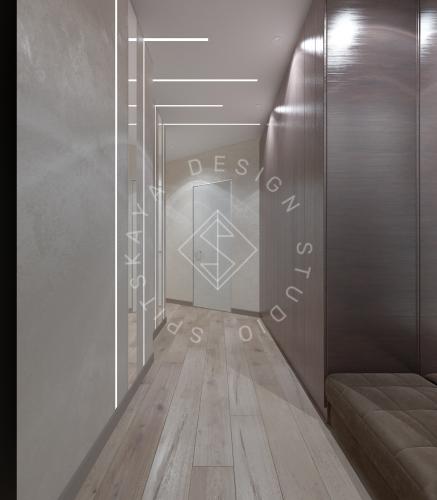 Дизайн трехкомнатной квартиры новом доме - 10
