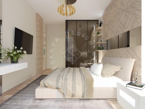 Дизайн трехкомнатной квартиры новом доме - 25