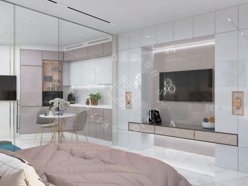"""Дизайн квартиры-студии в ЖК """"Bartolomeo Resort Town"""" г. Днепр - 9"""