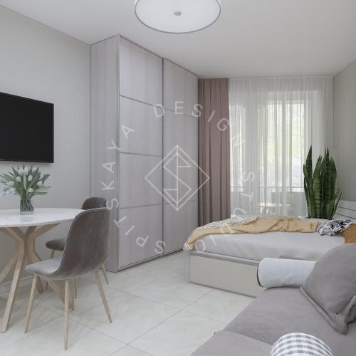 Дизайн однокомнатной квартиры в г. Грузия - 5