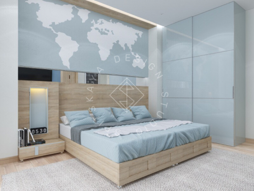 Дизайн трехкомнатной квартиры новом доме - 15