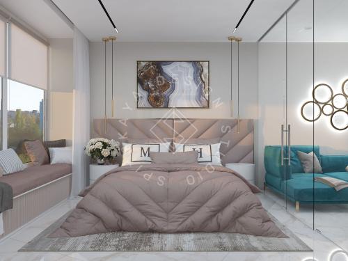 """Дизайн квартиры-студии в ЖК """"Bartolomeo Resort Town"""" г. Днепр - 14"""