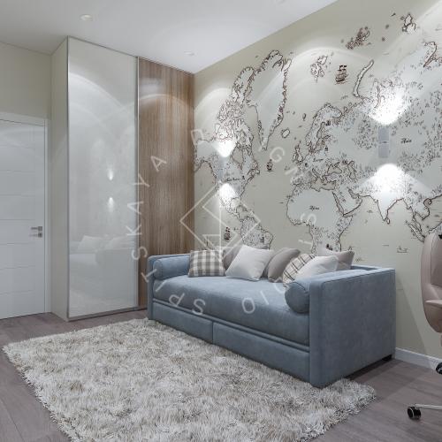 Дизайн интерьера квартиры в ЖК Comfort City Lux - 50