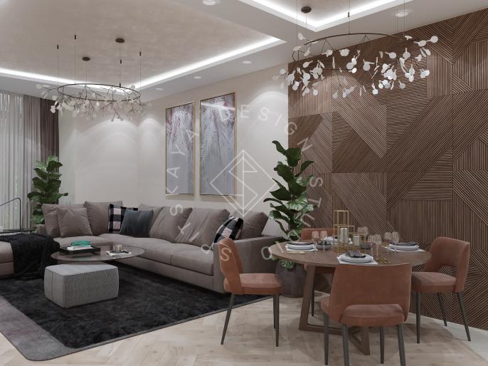 Дизайн квартиры 120 м2
