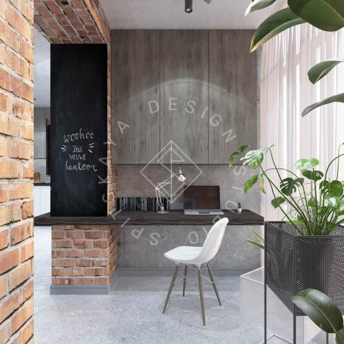 """Дизайн интерьера квартиры в стиле """"LOFT"""" ЖК """"RIVER PARK"""" - 4"""