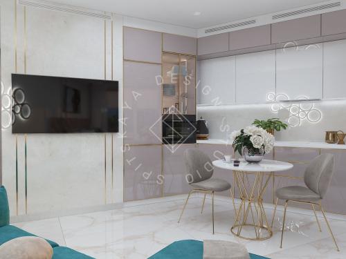 """Дизайн квартиры-студии в ЖК """"Bartolomeo Resort Town"""" г. Днепр - 11"""