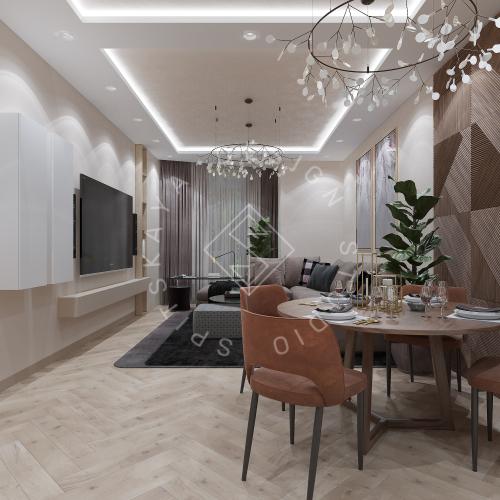 Дизайн квартиры 120 м2 - 3