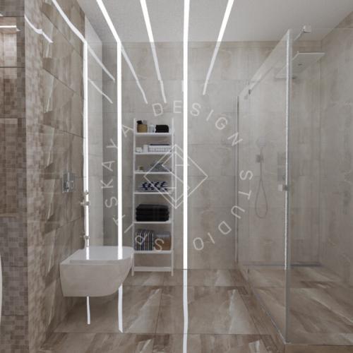 Дизайн трехкомнатной квартиры новом доме - 17