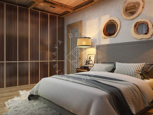Дизайн проект интерьера загородного дома в стиле Шале - 28