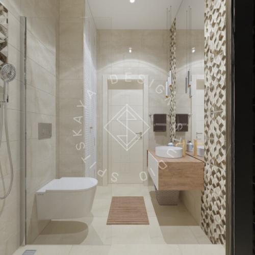 Дизайн трехкомнатной квартиры новом доме - 20